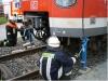 Anheben der S-Bahn im Frontbereich mittels Hydraulischer Winden