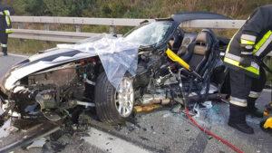 Schwerer Verkehrsunfall auf der B2, Bild 01