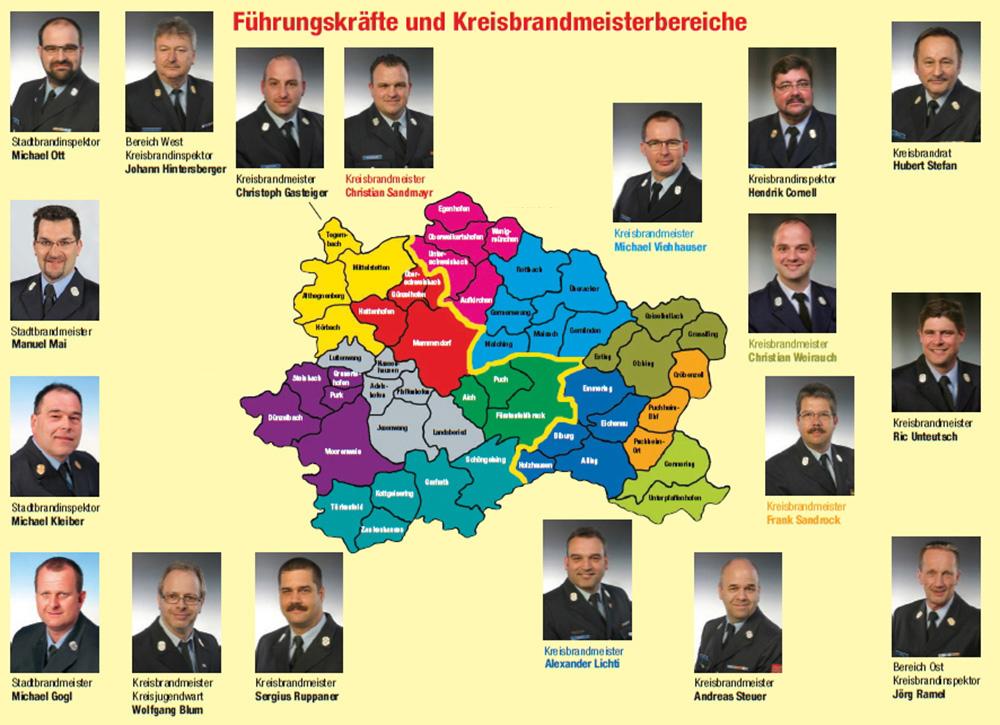 Führungskräfte und Kreisbrandmeisterbereiche