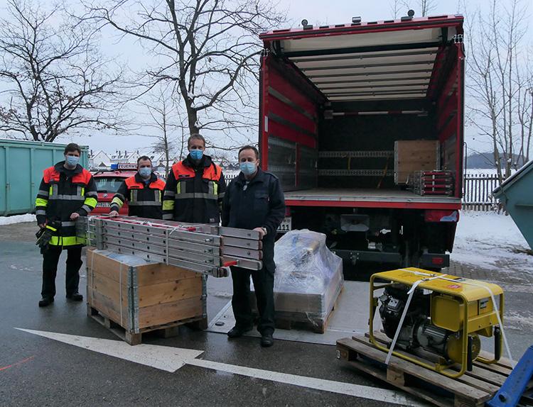 Erdbebenhilfe der Feuerwehren aus dem Landkreis für Kroatien