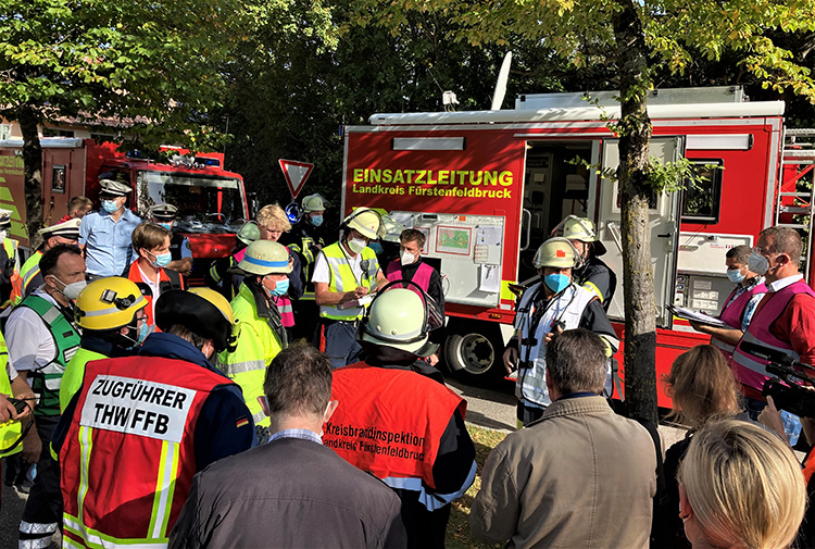 Katastrophenschutzübung 2021 - 01 Lagebesprechung