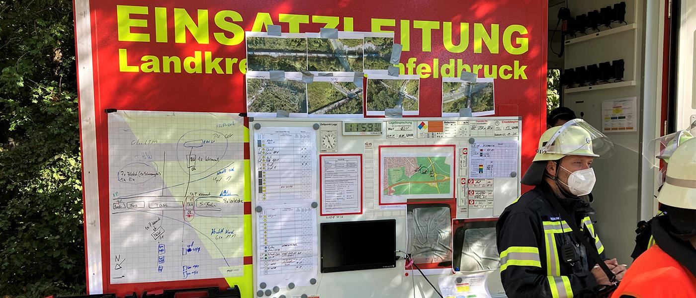 Erfolgreiche Katastrophenschutzübung 2021 in Germering