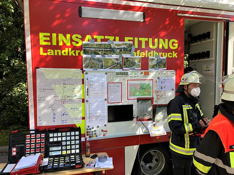 Katastrophenschutzübung 2021 - 04 Lagekarte