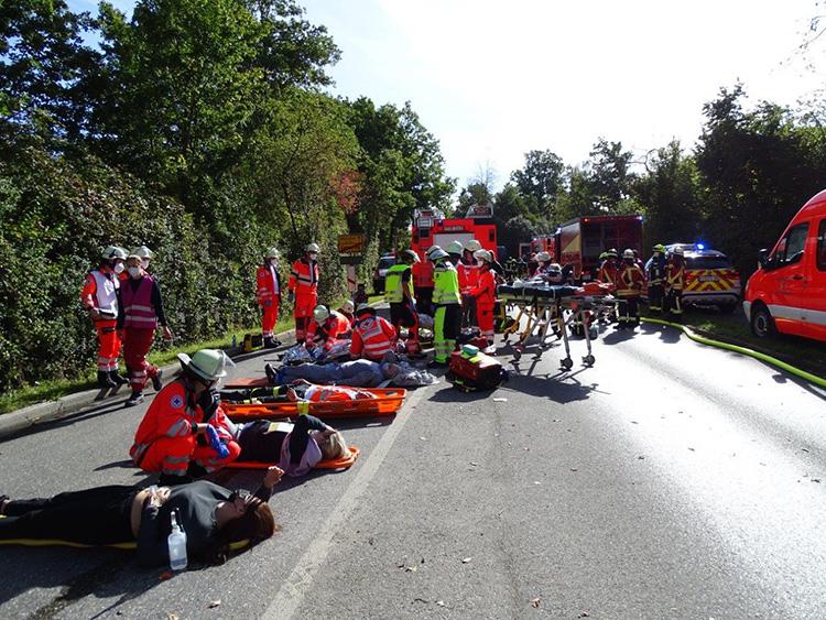 Katastrophenschutzübung 2021 - 05 Verletztenablage