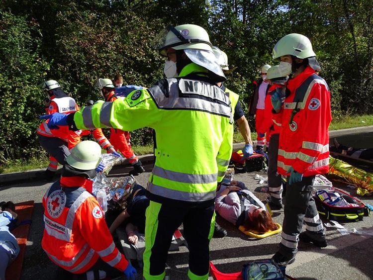 Katastrophenschutzübung 2021 - 10 Verletztenablage